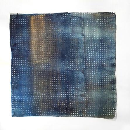 Katie Heffelfinger, 'Color Study in Navy with Gold Ombre Stripe (unframed)', 2016
