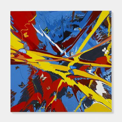 Damien Hirst, 'Beautiful Superheroes Painting (with Butterflies)', 2007