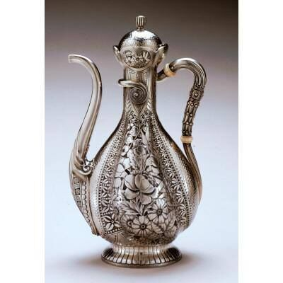 """Unknown Artist, '""""Islamic"""" Coffee Pot with Chased Decoration', 1881"""