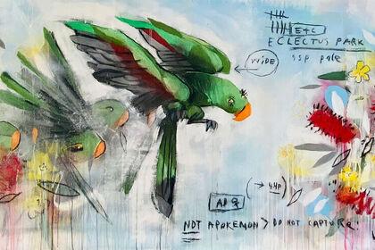 Anthony Lister - Birds I meet back home