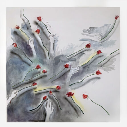 Madeleine Hines, 'Scattered Roses', 2020