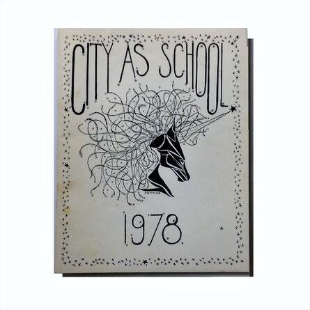 "Jean-Michel Basquiat, '""City as School-1978"", High School Yearbook, Brooklyn NY', 1978"