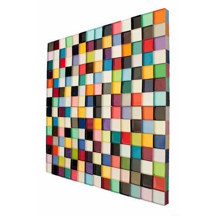 Janet Sherman, ''Seven Sevens' Single Panel Geometric Wall Art', 2016