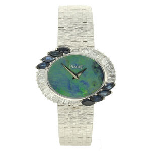Piaget, '18ct white gold and diamond bracelet watch with opal dial.', ca. 1970