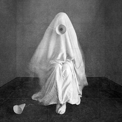Jon McCallum, 'Sheeted Figure with Cone in Room', 2015