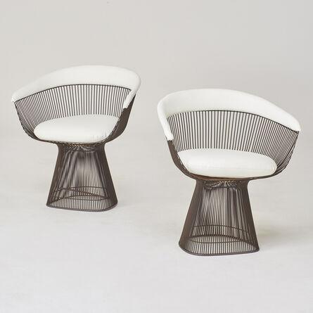 Warren Platner, 'Pair of lounge chairs', 1970s/80s