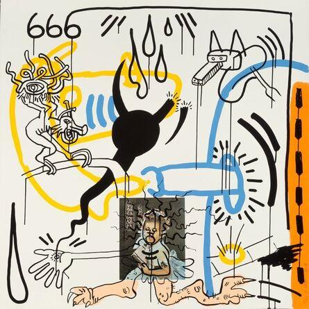 Keith Haring, 'No. 8, from Apocalypse portfolio', 1988