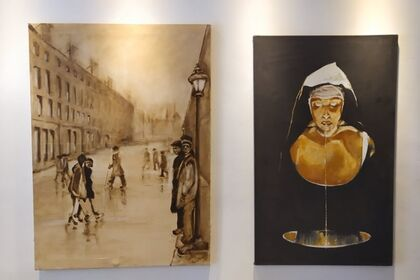Paul Zajciw expressionistic original oils on canvas