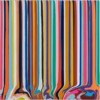 Ian Davenport, 'Duplex Etching: Grey, Lavender ', 2014
