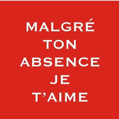 "Pep Agut, '""Malgré ton abscence je t'aime""', 2003-05"