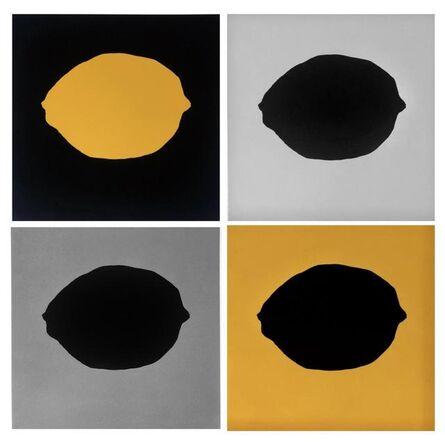 Donald Sultan, 'Lemons (Set of 4)', 2018