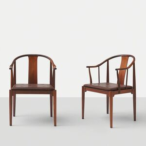 "Hans Jørgensen Wegner, 'Pair of Rosewood ""China"" Chairs by Hans J Wegner', ca. 1960"
