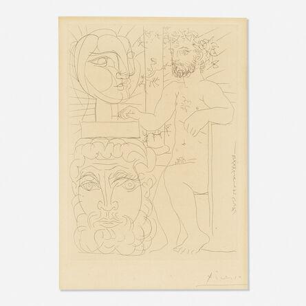 Pablo Picasso, 'Sculpteur et Deux Tetes Sculptees from the Vollard Suite', 1933