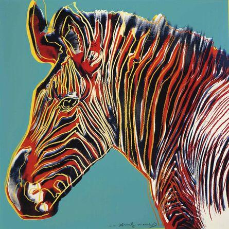 Andy Warhol, 'Grevy's Zebra II.300 (AP from Endangered Species)', 1983