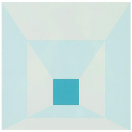 Josef Albers, 'MITERED SQUARES - COLD TEAL', 1976