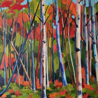 Jenn Hallgren, 'Birch Garden with Red Sand ', 2019