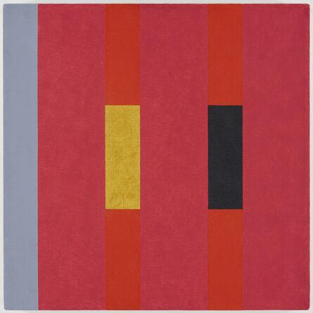 Oli Sihvonen, '3x3 (yellow, deep greens, ochre on pink) (197)'
