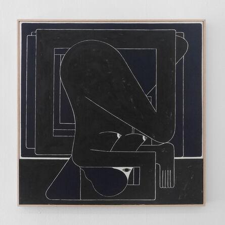 Richard Colman, 'Black Square (Single Figure)', 2017