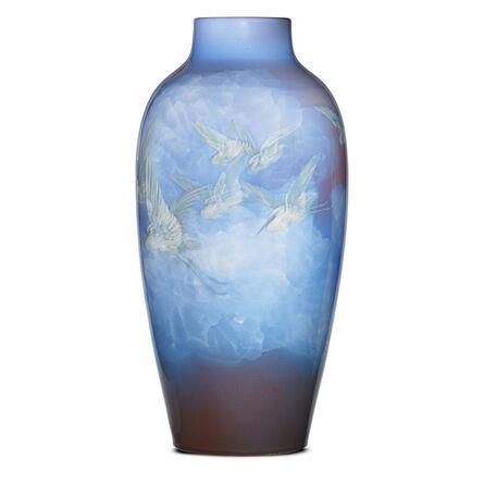 Edward T. Hurley, 'Monumental special-order Iris Glaze vase with egrets, Cincinnati, OH', 1903