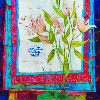 Sue Fitzgerald, 'Lilies and Tea Bowl', 2017