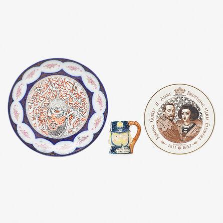 Roberto Lugo, 'Two plates and one mug, USA', 2010s