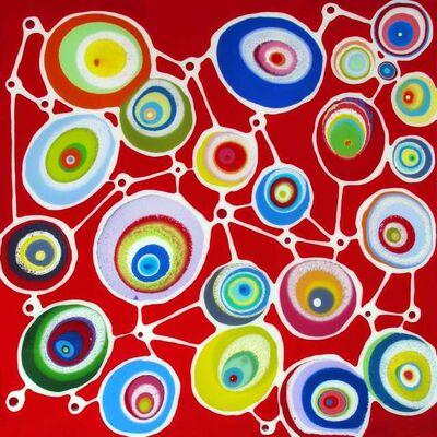 Klari Reis, 'Entwined Red', 2014