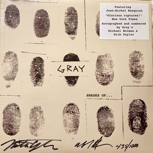 Jean-Michel Basquiat, 'Basquiat Gray vinyl record signed (Basquiat Record Art)', 2010