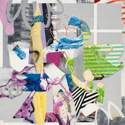 Fiona Ackerman, 'Paper House - A lively and colorful collage composition', 2015