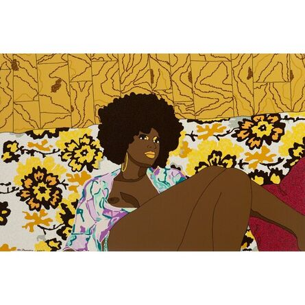 Mickalene Thomas, 'Why Can't We Just Sit Down and Talk It Over?', 2006