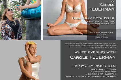 Summer cocktail evening with Carole Feuerman