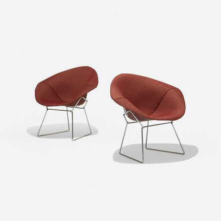 Harry Bertoia, 'Diamond chairs, pair', 1952