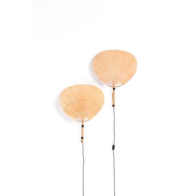 Ingo Maurer, 'Modèle Uchiwa III - Pair of wall lamps', 1973