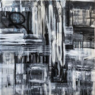 """Kymm Swank, '""""Central Ave #6"""" - Acrylic, Spray Paint and Resin on Wood ', 2017"""