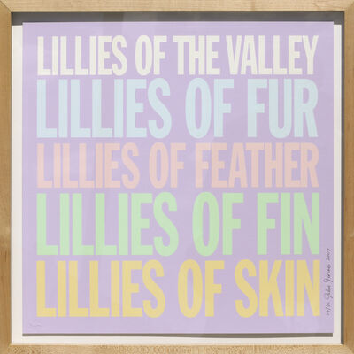 John Giorno, 'Lillies of the Valley', 2007