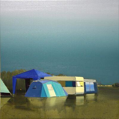 Ulf Puder, 'Walchensee, blaue Landschaft', 2015