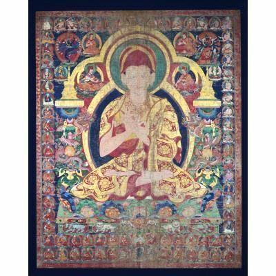 Unknown Artist, 'Sonam Gyaltsen with Sakya Order Teaching Lineages', ca. 1667