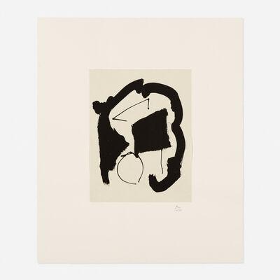 Robert Motherwell, 'Composition XXV from the Octavio Paz, Three Poems portfolio', 1987