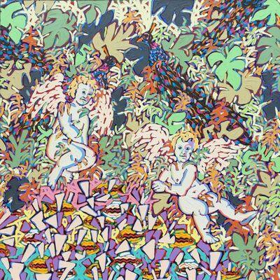 Tom Francis, 'Peacocks', 1987
