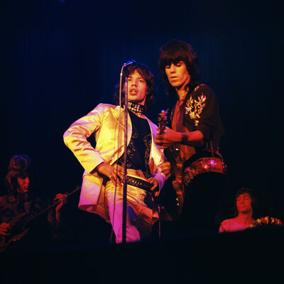 """Bent Rej, '""""The Glimmer Twins"""" Rolling Stones on Stage, Copenhagen, 1970', 1970"""