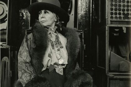 """LOUISE NEVELSON; """"I think most artists create out of despair."""" - Assemblage, Collage, Jewelry, Photographs, Prints, and Sculpture"""