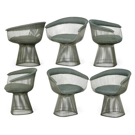 Warren Platner, 'Six dining chairs, New York', second half of the 20th C.