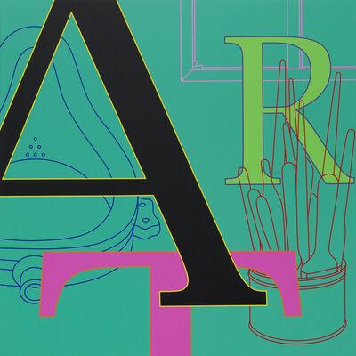 Michael Craig-Martin, 'ART (green)', 2010