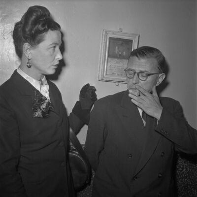 Willy Rizzo, 'Jean Paul Sartre and Simone de Beauvoir, Paris, 1951', 1951