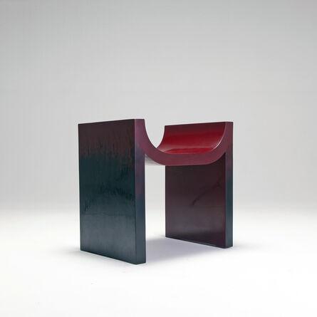Naihan Li, 'Lacquer Chair #2 in Burgundy'