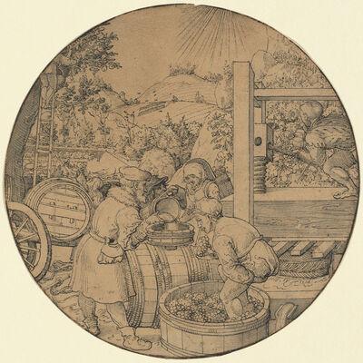 Jorg Breu I, 'The Wine Harvest (September)', in or before 1521