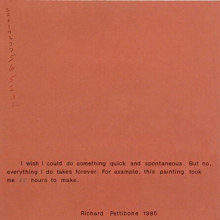 Richard Pettibone, 'I Wish I Could Do Something Quick and Spontaneous', 1985
