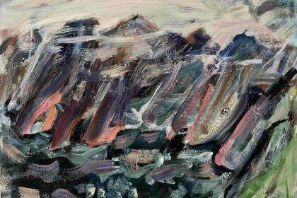 DISTANT HEIGHTS new paintings by SASHA CHERMAYEFF at BCB ART Hudson, NY