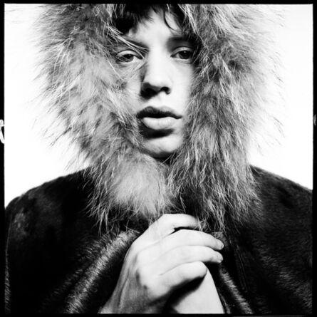 David Bailey, 'Mick Jagger (Fur Hood)', 1964
