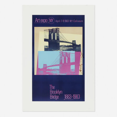 Andy Warhol, 'The Brooklyn Bridge 1883-1983', 1983