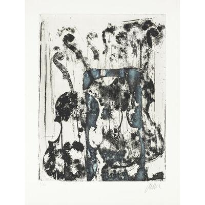 Arman, 'Noir et bleu. ', 1989.